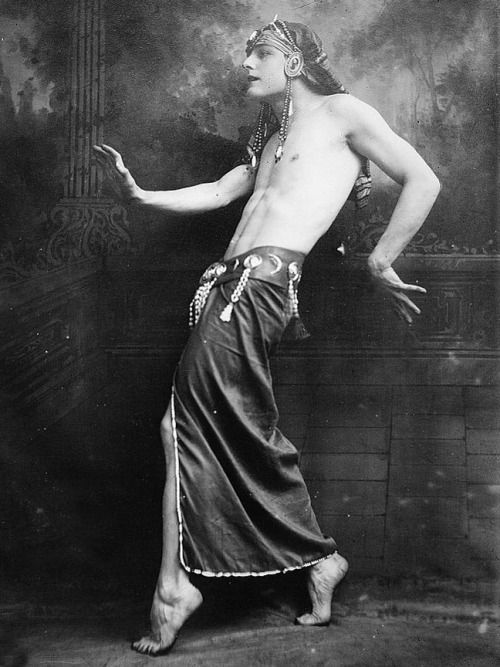 Male dancer in ancient Egyptian costume