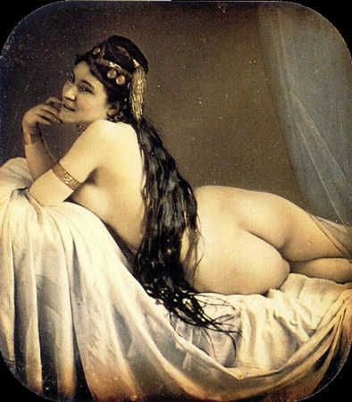 Painting of an odalisque