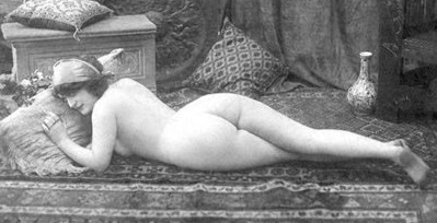 nude woman reclined.