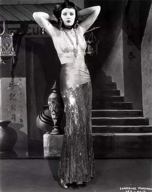 burlesque dancer in a bellydancer costume. Circa 1930s