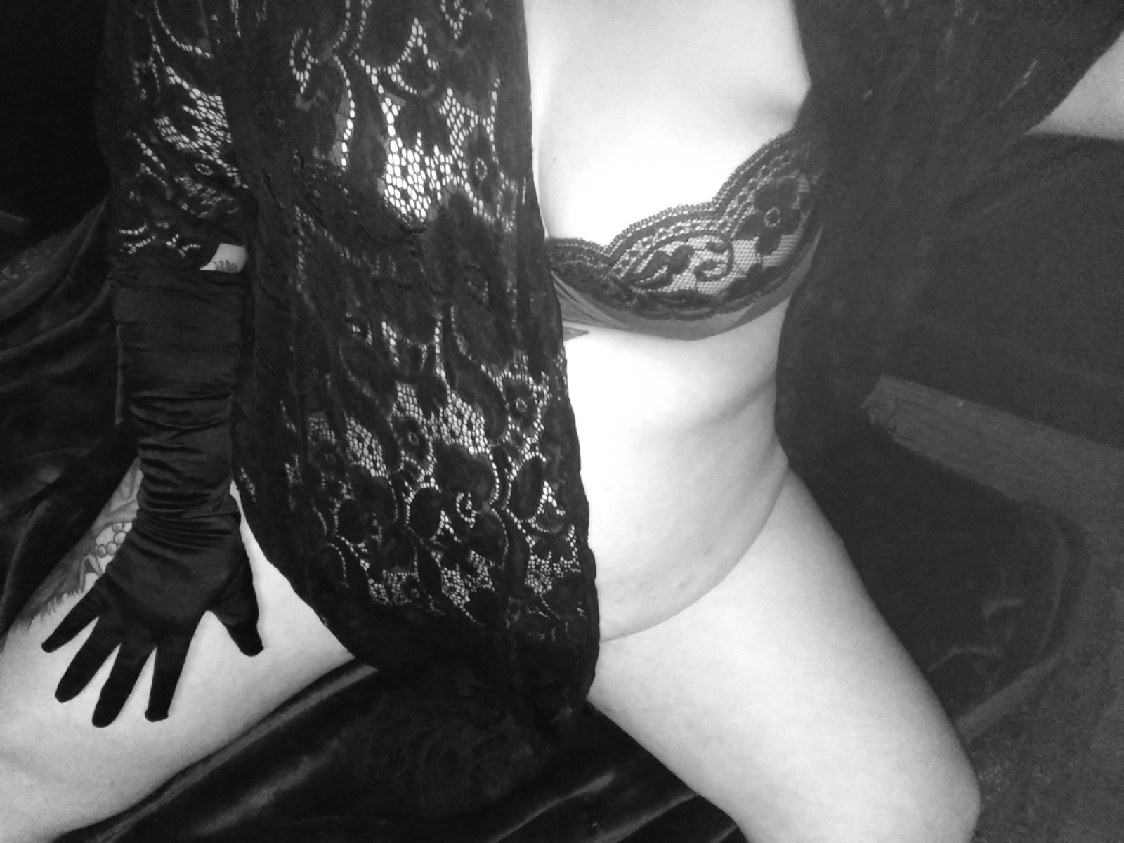 author Lascivious Lucy in black lace