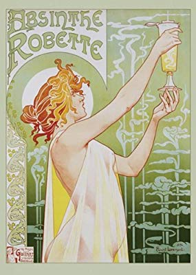 Poster for Abinsthe Robette in the Art Nouveau style. Artist Henri Privat-Livemont