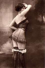 woman in 1920s lingerie