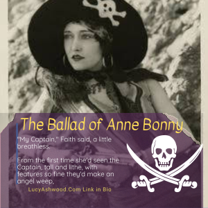 a black and white photo of a woman dressed in a pirate hat
