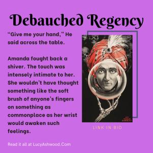 debauched regency with a vintage fortune teller